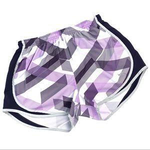 Nike Dri Fit Tempo Running Shorts White & Purple M